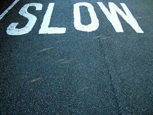 langzaam