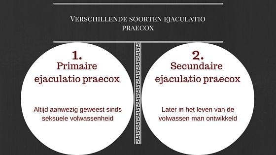 verschillende soorten ejaculatio praecox