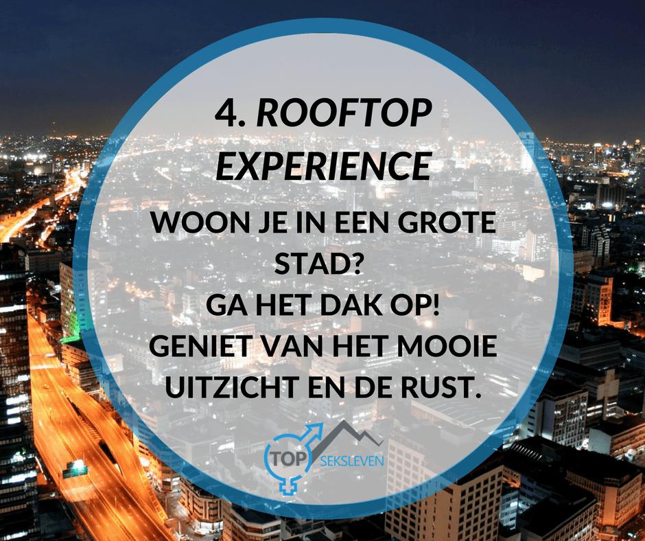 buitenseks op het dak van een gebouw
