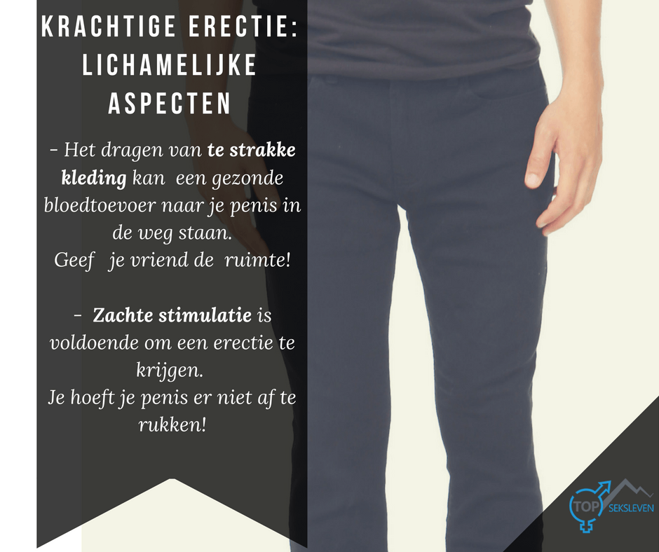 erectie problemen te strakke kleding