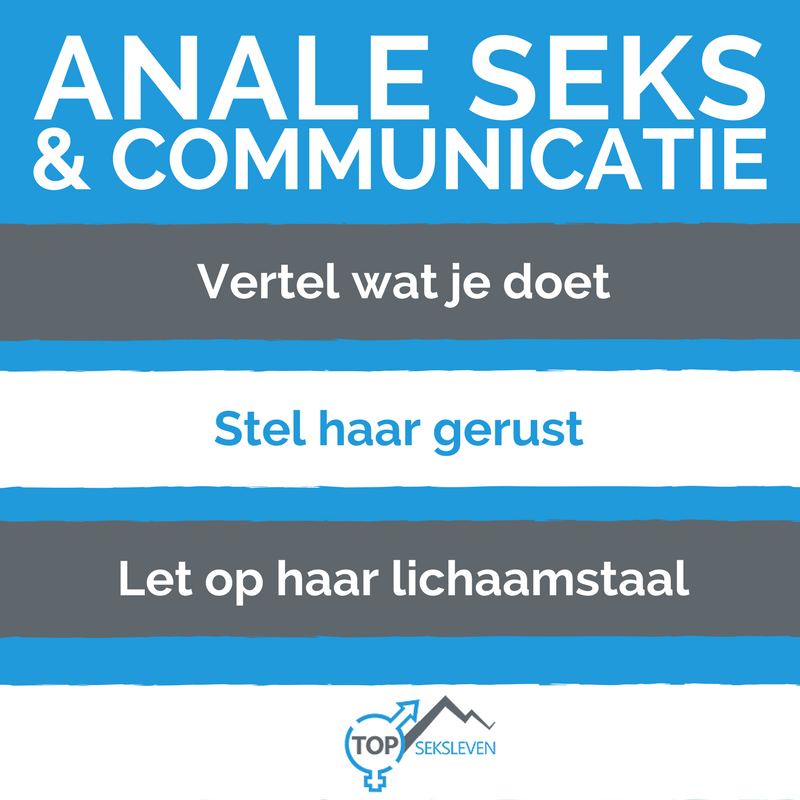 anale seks en goed communiceren