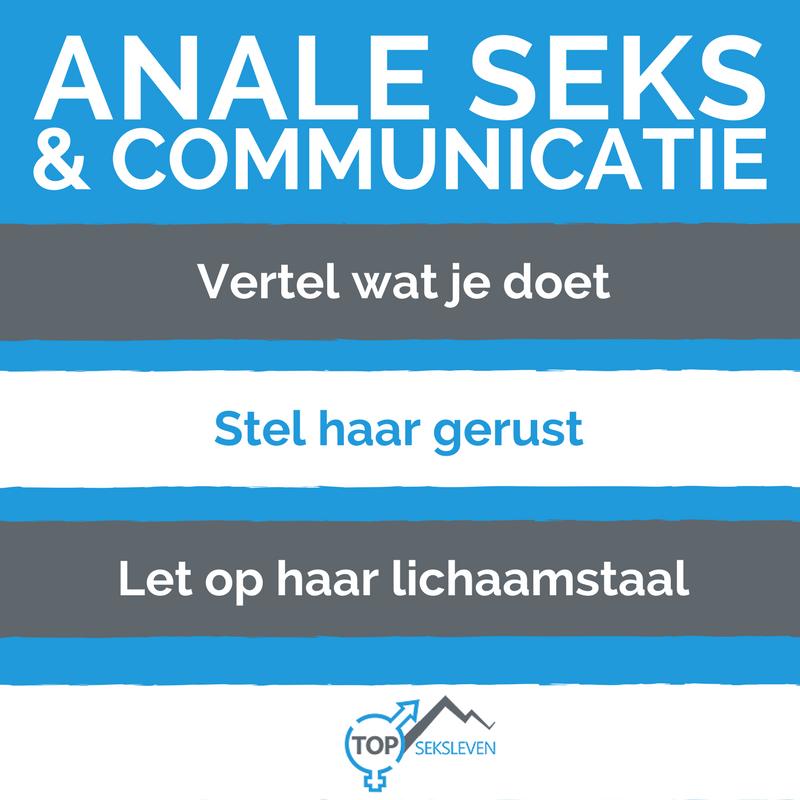 anale seks en goed communiceren