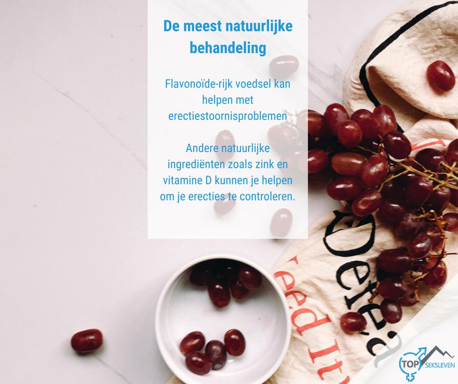 Flavonoïde rijk voedsel tegen erectiestoornissen