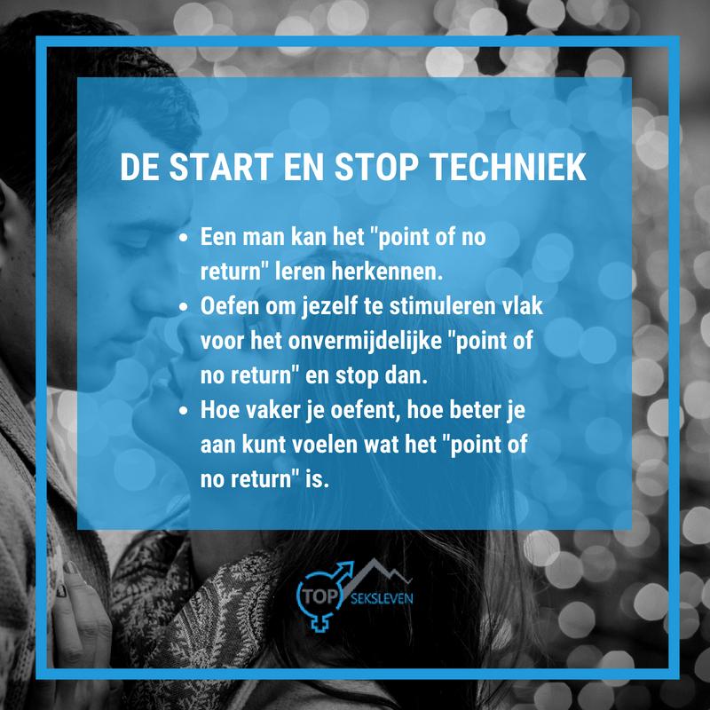 Uitleg van de start stop techniek
